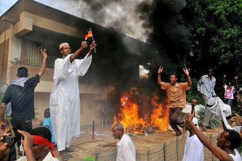 sudan burns the wrong embassy